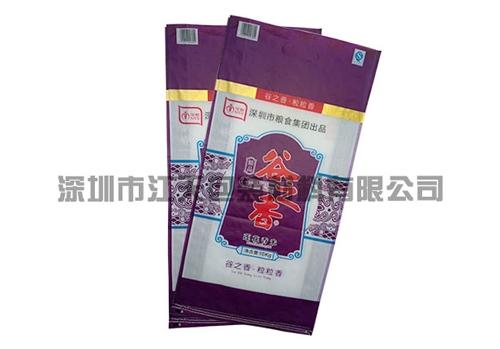 Color printing food woven bag