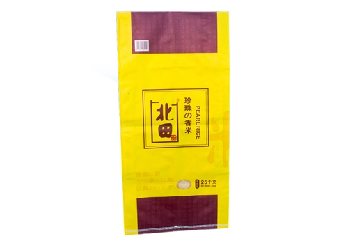 Color printing rice plastic woven bag