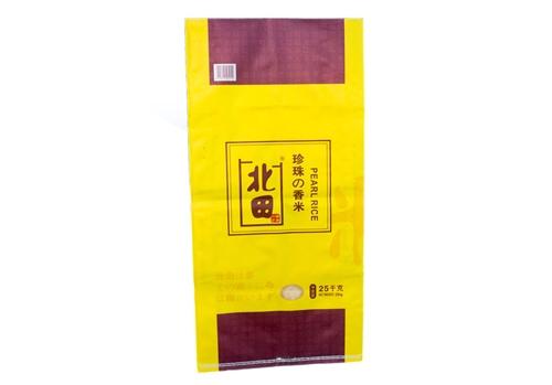 Color printing rice plastic woven bag